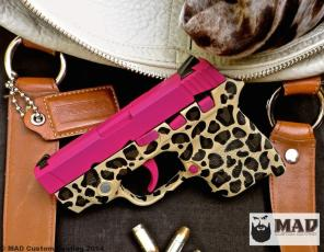 S&W Bodyguard in Sig Pink & Leopar Print Frame all in Cerakote