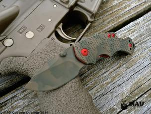 MAD Edge Camo on a Kershaw Shuffle with USMC Red accents