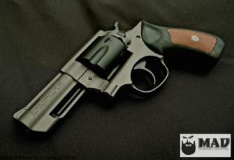 Ruger GP100 in Cerakote Tungsten & Graphite Black