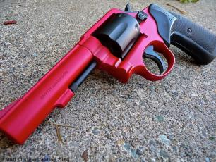 Smith & Wesson Revolver in Cerakote Smith & Wesson Red and Graphite Black