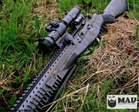 Socom 16 II in Cerakote Tungsten & Burnt Bronze Tiger Stripe