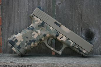 Glock 19 in Cerakote Mar Pat Digital Camo