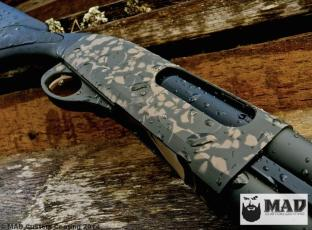Remington 870 in 2 color Skull Pattern with Cerakote Magpul FDE & Magpul OD