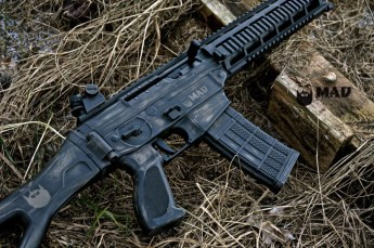Sig 5.56 in War Torn Cerakote Magpul FDE & Graphite Black