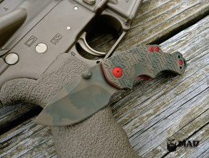 Kershaw Shuffle in MAD Edge Camo with USMC Red accents