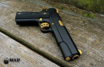 Ruger 1911 in MAD Black with Gold accents