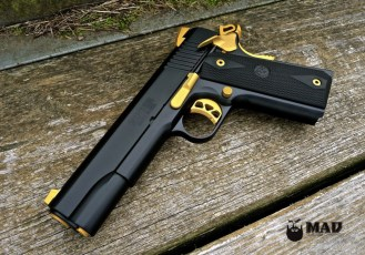 Ruger 1911 in MAD Black and Cerakote Gold