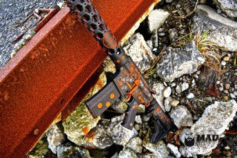 Hexmag AR15 in our MAD Hex pattern w/ custom Burnt Orange Cerakote mix