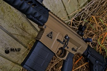 Black Rain Ordnance AR10 in Burnt Bronze with Graphite Black color fill