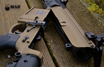 Black Rain Ordnance AR10 in Cerakote Burnt Bronze with MAD Black insides