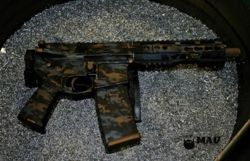 AR pistol in 3 color MAD Grunge Camo