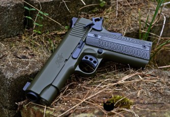 Kimber 1911 in Cerakote Sniper Grey & OD Green