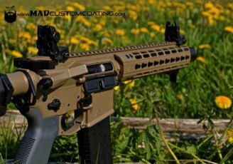 AR15 pistol in MAD Black & Magpul FDE