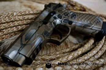 MAD Dragon Camo on a Lionheart LH9 using MAD Black, Burnt Bronze & Shimmer Gold