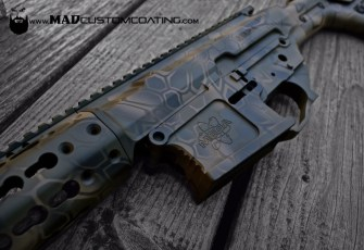 MAD Dragon Camo in MAD Black, Magpul FDE & Magpul OD on a Mega Arms 308