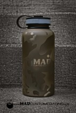 MADLand Camo on a Water Bottle in Patriot Brown, Magpul FDE & Desert Sand