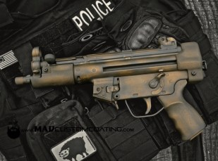 War Torn on an MP5 in Cerakote Burnt Bronze & Black
