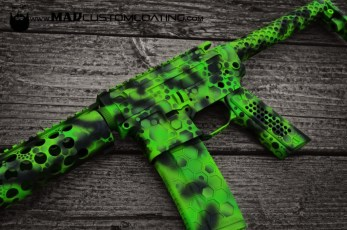 """Toxic"" Themed AR15 in MAD Black, MAD Green & Zombie Green"