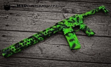 """Toxic"" AR15 in MAD Black, MAD Green & Zombie Green"