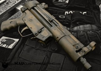 War Torn on an MP5 in Burnt Bronze and Black Cerakote