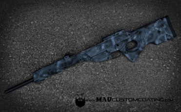 MAD Dragon Camo on an H&K SL8 in MAD Black, Sniper Grey & Smith's Grey