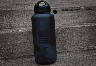 MADLand Camo on a Klean Kanteen in MAD Black & Combat Grey