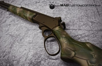MAD Dragon Camo & Dark Bronze on a Marlin .45-70 Lever Action