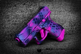Pink MAD Dragon on a Glock 43