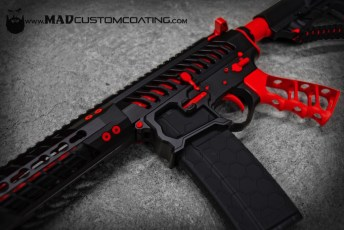 MAD Black & USMC Red on an F1 Firearms AR15