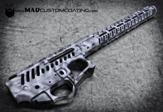 MAD Edge Snow Camo on an F-1 Firearms AR15