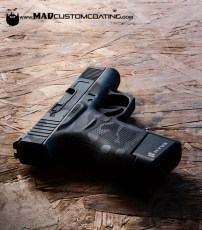 MADLand Camo on a Glock 43 in MAD Black & Sniper Grey