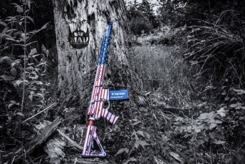 War Torn American Flag on an AR15