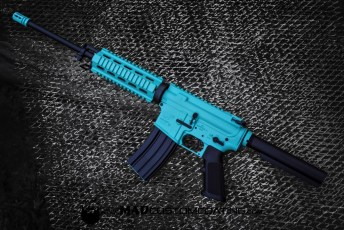 Robin's Egg Blue & MAD Black AR15