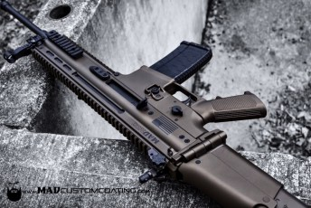 FN SCAR 16 in Midnight Bronze & MAD Black