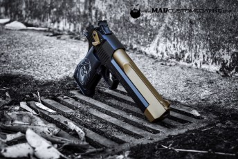 MAD Black & Burnt Bronze on a Desert Eagle