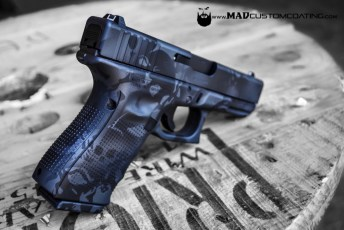 Skull Camo on a Glock 19 in MAD Black & Sniper Grey