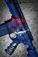 War Torn Red, White, Blue splatter
