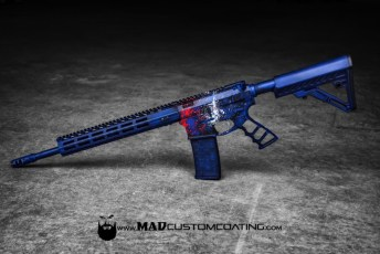 War Torn Red, White & Blue Cerakote Jones Arms AR 15