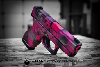 Pink MAD Dragon Camo on a Glock 43