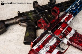 V7 ARs in War Torn American Flag & MADLand Camo
