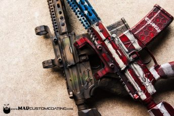 V7 AR15s in MADLand Camo & War Torn American Flag