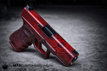 War Torn Crimson & MAD Black on a Glock