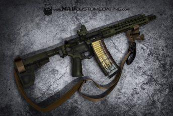 War Torn Bazooka Green on an AR Pistol