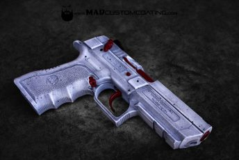 IWI baby eagle crimson with war torn white