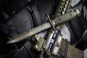 Bayonet in War Torn Bazooka Green