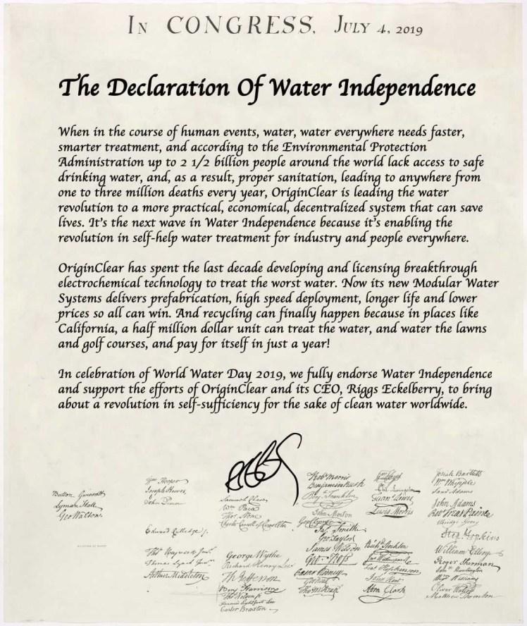 waterdeclaration
