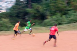 A blur towards goal