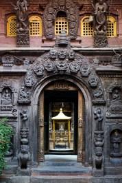 Entering the Golden Temple, Patan