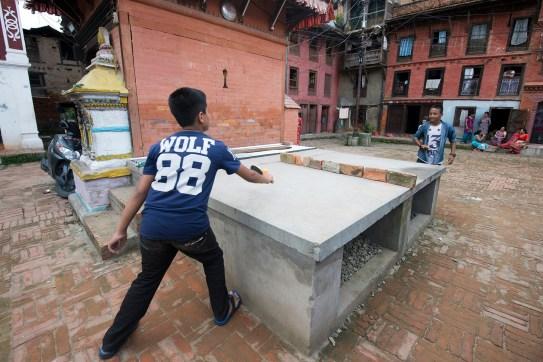 Makeshift table tennis table