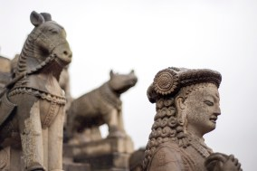 Temple guardians, Siddhi Laxmi Temple, Durbar Square